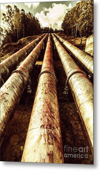 Hydroelectric Pipeline Metal Print
