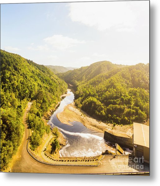 Hydropower Valley River Metal Print