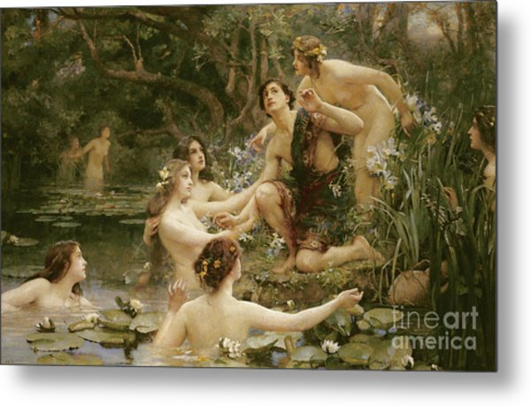 Hylas And The Water Nymphs Metal Print