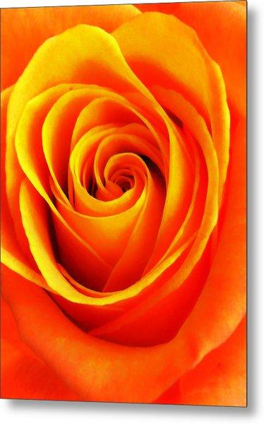 Hypnotic Orange Metal Print