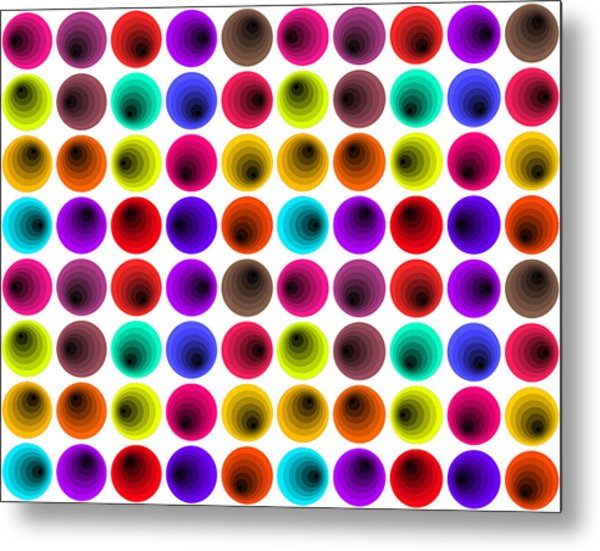 Hypnotized Optical Illusion Metal Print