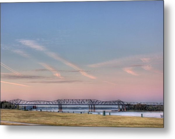 I-55 Bridge Over The Mississippi Metal Print