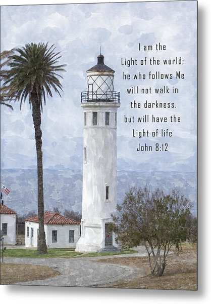 I Am The Light Of The World Metal Print