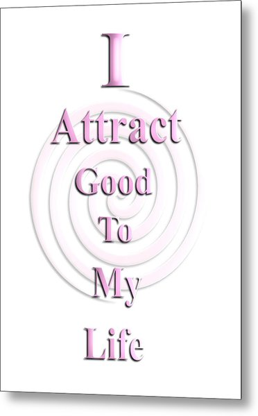 I Attract Pink Metal Print