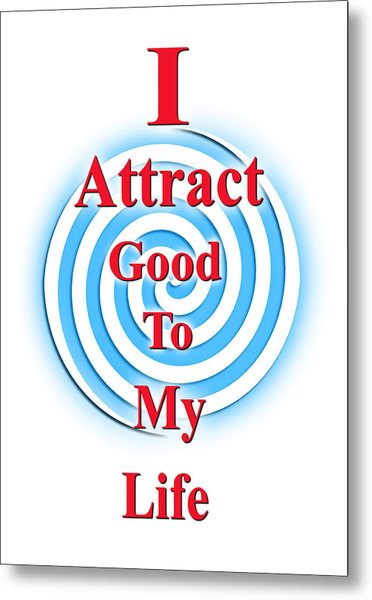 I Attract Red White Blue Metal Print