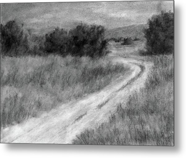 I Can See For Miles Study Metal Print