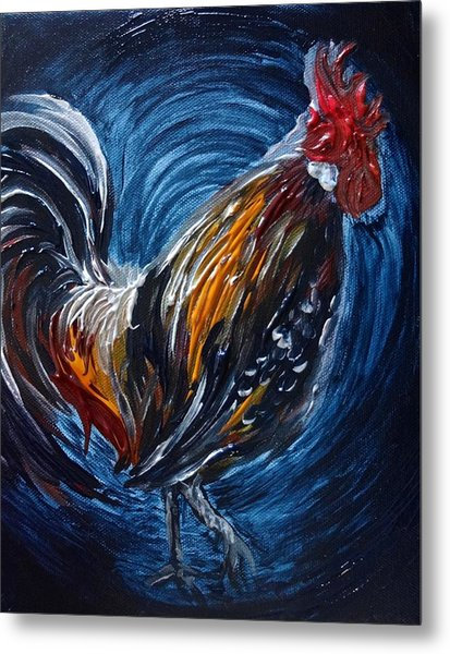 Metal Print featuring the painting I Gayu Guam Rooster by Michelle Pier