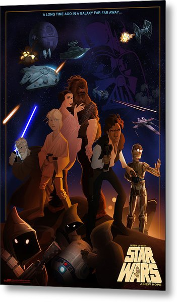 I Grew Up With Starwars Metal Print