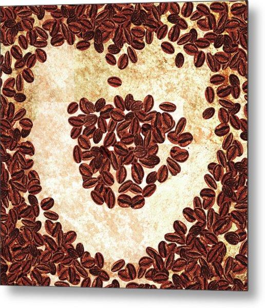 I Heart Coffee  Metal Print