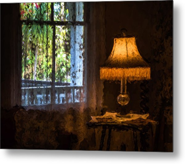I Left The Light On For You Metal Print