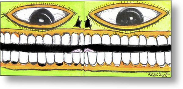 I Like 2 Smile Metal Print by Robert Wolverton Jr