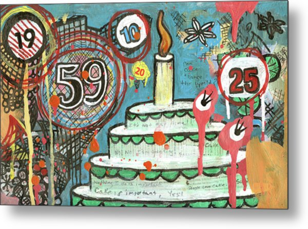 I Love Cake Metal Print by Pegeen  Shean