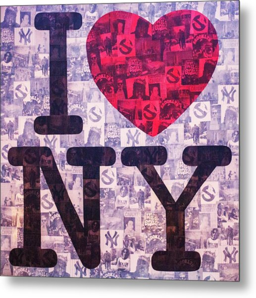 I Love New York Metal Print