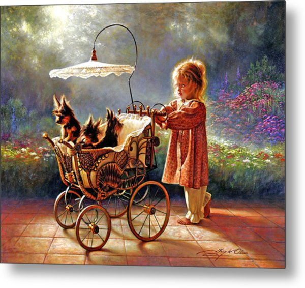 Metal Print featuring the painting I Love New Yorkies by Greg Olsen
