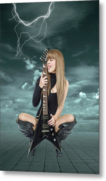 I Love Rock And Roll Metal Print