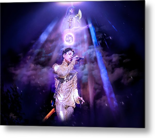 I Love You - Prince Metal Print