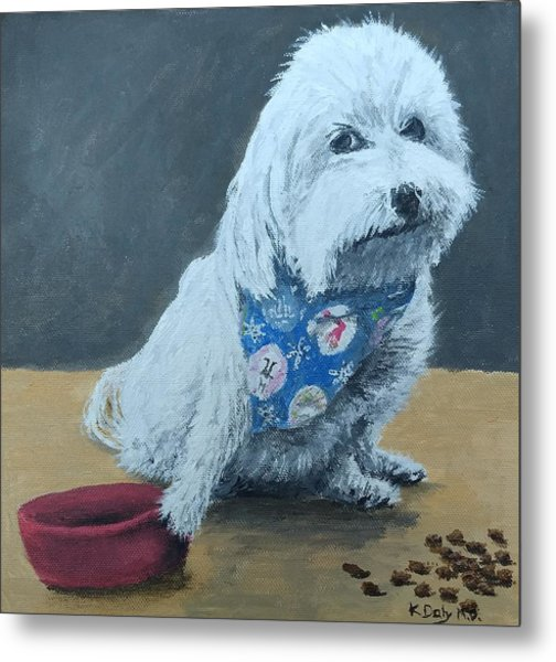 Metal Print featuring the painting No Bowls by Kevin Daly