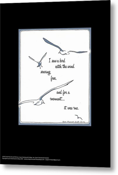 I Saw A Bird Catch The Wind Metal Print