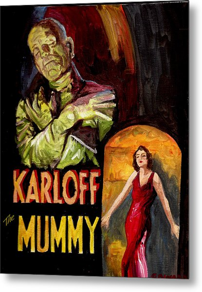 I Want My Mummy Metal Print