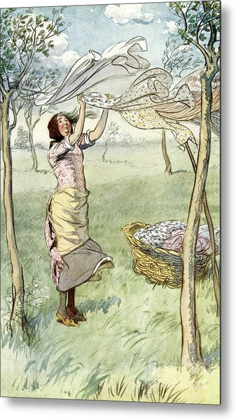 I Wash, Wring   And Do It All Myself, From The Merry Wives Of Windsor Metal Print