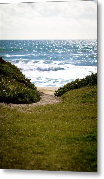I Will Follow - Ocean Photography Metal Print