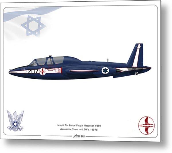 Iaf Aerobatic Team Fouga Magister Metal Print