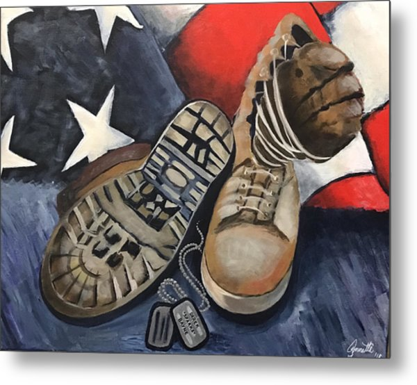 Ians Boots V3 Metal Print by Annette Torres