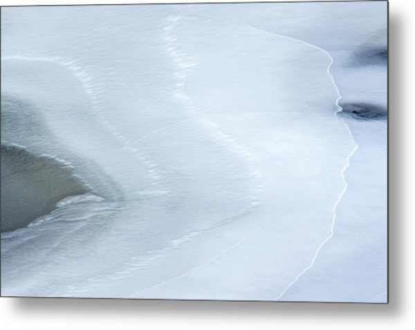 Ice Abstract 3 Metal Print