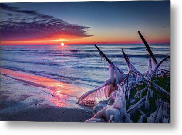 Ice Age Sunrise 1 Metal Print