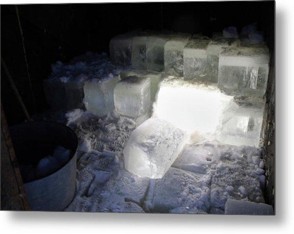 Ice Blocks In House Metal Print