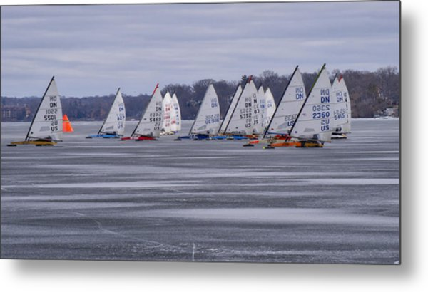 Ice Boat Racing - Madison - Wisconsin Metal Print