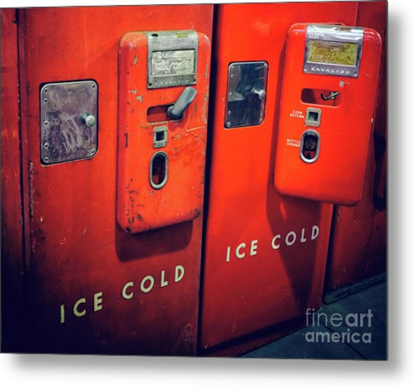 Ice Cold Red  Metal Print by Steven Digman