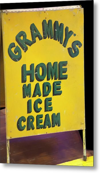 Metal Print featuring the photograph Ice Cream Sign by Chris Flees