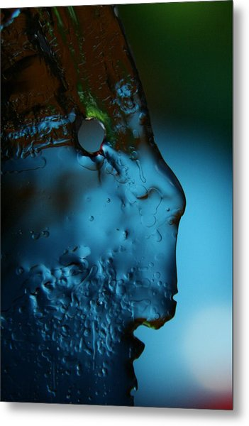 Ice Face Metal Print