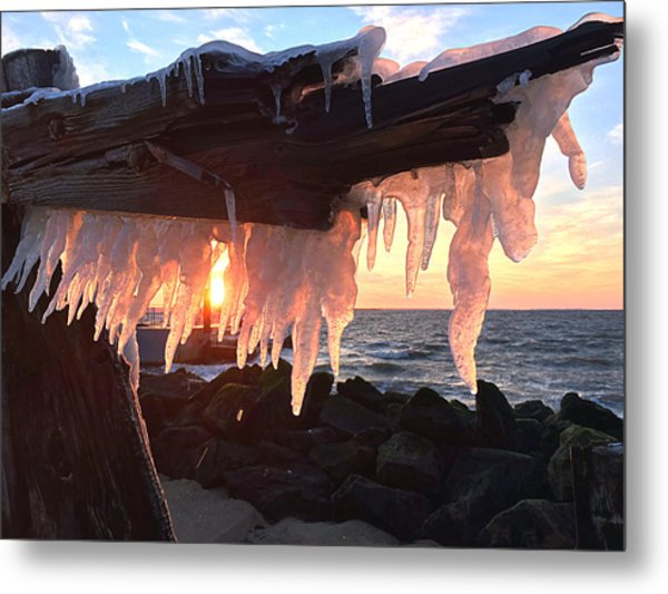 Ice Fangs Metal Print
