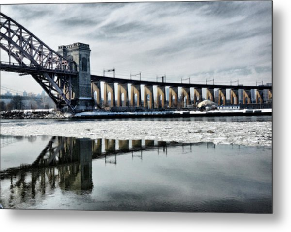 Ice Flows Under The Hellgate Metal Print