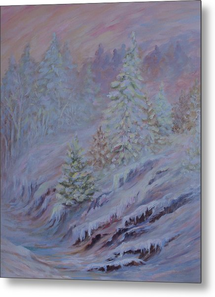 Ice Fog In The Forest Metal Print