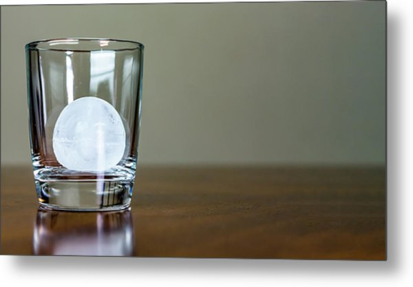 Ice For Whisky Or Cocktail Metal Print