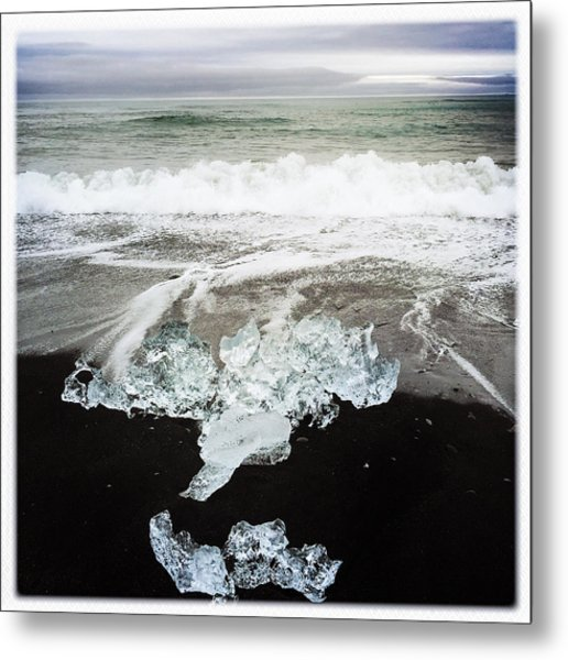 Ice In Iceland Metal Print