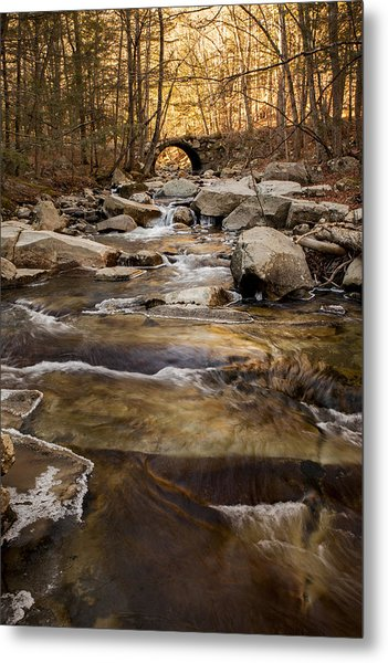 Ice On Stickney Brook Metal Print