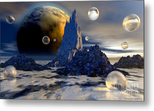 Ice Planet Metal Print by Sandra Bauser Digital Art