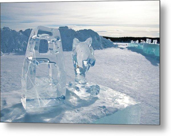 Ice Sculpture Metal Print