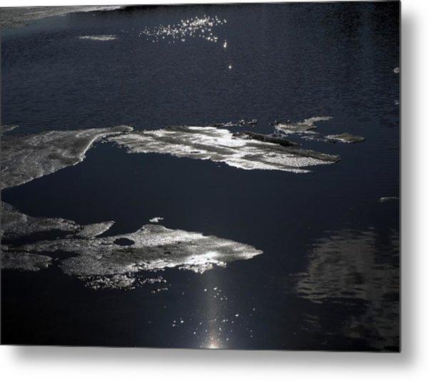 Ice Water Metal Print by Stan Wojtaszek