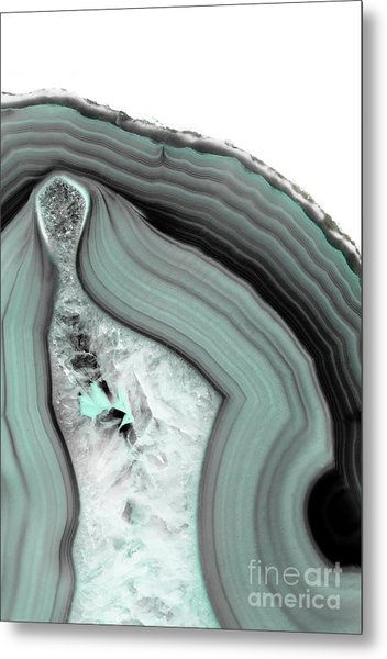 Iced Agate Metal Print
