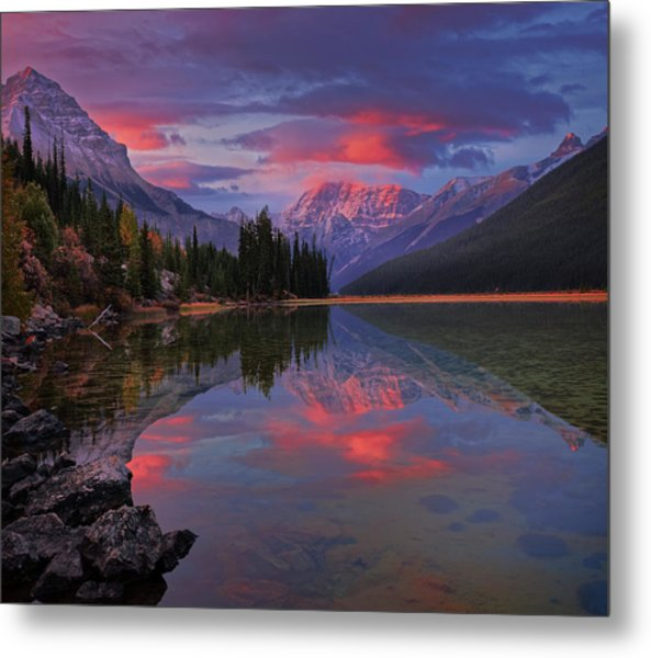 Icefields Parkway Autumn Morning Metal Print