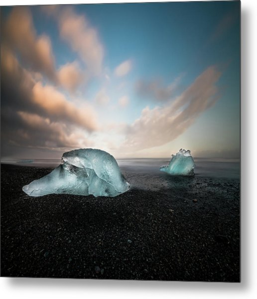 Iceland Glacial Ice Metal Print