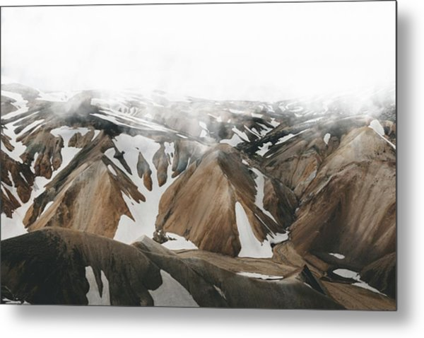 Iceland Mountains  Metal Print