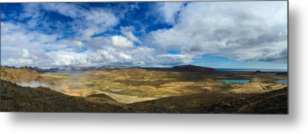 Iceland Panorama Image Geothermal Area Metal Print