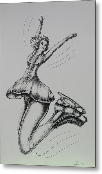 Iceskater Metal Print by Joan Taylor-Sullivant