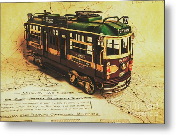 Icon Melbourne Tram Art Metal Print